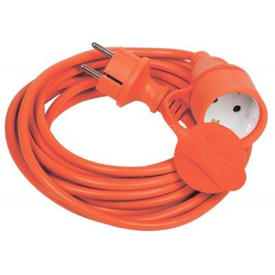 Удлинитель-шнур УШ-01РВ 5м вилка+розетка 2Р+РЕ 3х1 оранж. ИЭК WUP10-05-K09-44