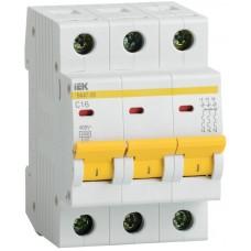 Выключатель автоматический модульный 3п B 20А 4.5кА ВА47-29 ИЭК MVA20-3-020-B