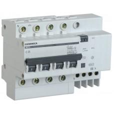 Выключатель автоматический дифференциального тока 4п 25А 30мА АД14 GENERICA ИЭК MAD15-4-025-C-030