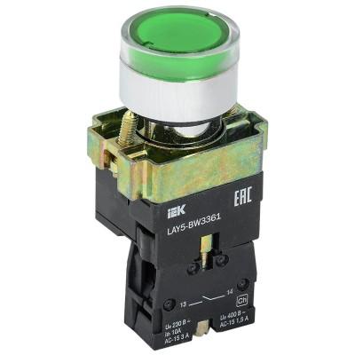 Кнопка LAY5-BW3361 с подсв. зел. 1з ИЭК BBT50-BW-K06