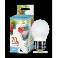 Лампа светодиодная LED-ШАР-standard 7.5Вт 230В Е27 4000К 675Лм ASD