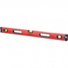 Уровень алюминиевый, 800 мм, 3 глазка, ударопрочные заглушки, двухкомпонентные ручки. MATRIX PROFI