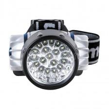 Фонарь налобный LED 5323-19Mx (19 ультра ярких LED 4 режима; 3хR03 в комплекте; метал.) Camelion 8138