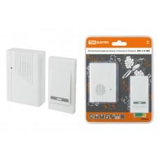 Звонок беспроводной на батарейках ЗББ-11/3-36М (36 мелодий, кнопка IP30, 2х1,5В АА) TDM