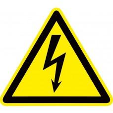 """Знак пластик """"Опасность поражения электрическим током"""" (Молния) W08 (100х100мм.) EKF PROxima"""