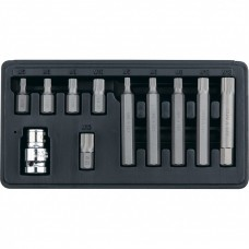 Набор бит SPLINE, хвостовик-шестигранник 11/2, CrV, 10 мм, 11 предметов. STELS