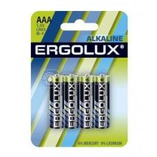 Элемент питания алкалиновый LR03 BL-4 LR03 BL-4 1.5В Alkaline (блист.4шт) Ergolux 11744