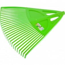 Грабли веерные пластиковые, 27 зубьев, зеленые. Palisad