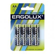 Элемент питания алкалиновый LR6 BL-4 LR6 BL-4 1.5В Alkaline (блист.4шт) Ergolux 11748