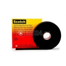 Изолента ЭПР самослипающаяся 19мм (рул.9.1м) Scotch 23 черн. 3М 7000007286