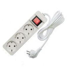 Удлинитель 3х1.5м с заземл. 10А IP20 2.2кВт с выкл. Союз 481S-7301