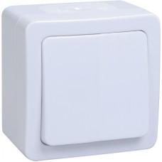 Выключатель 1-кл. ОП ГЕРМЕС PLUS 10А IP54 ВС20-1-0-ГПБ бел. ИЭК EVMP10-K01-10-54-EC