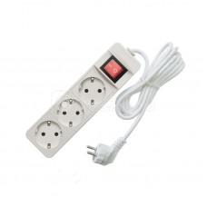 Удлинитель 3х3м с заземл. 10А IP20 2.2кВт с выкл. Союз 481S-7303