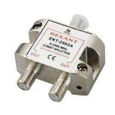 "Делитель ТВ ""краб"" х2 под F разъем 5-2500 МГц ""СПУТНИК"" Rexant 05-6201"