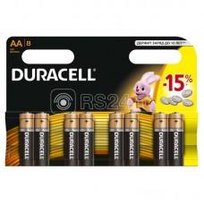 Элемент питания алкалиновый LR LR6-8BL BASIC (блист.8шт) Duracell C0037387