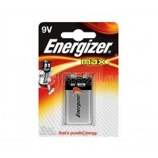 """Элемент питания алкалиновый """"крона"""" 6LR61-1BL MAX (12/4320) (блист.1шт) Energizer Б0016824"""