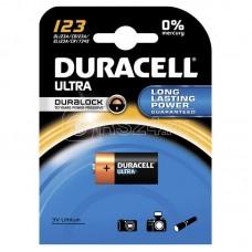Элемент питания литиевый CR 123 BP-1 ULTRA (блист.1шт) Duracell A0001263