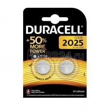 Элемент питания литиевый CR DL 2025 BP-2 (блист.2шт) Duracell Б0037272