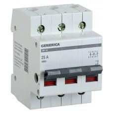 Выключатель нагрузки (мини-рубильник) 3п ВН-32 3Р 63А GENERICA ИЭК MNV15-3-063