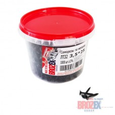 Саморезы по металлу BROZEX ВЕДРО 3,5х25 частая резьба (1000шт)