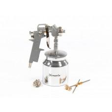 Краскораспылитель пневматический с нижним бачком V 0,75 л, сопло D 1.2, 1.5 и 1.8 мм. MATRIX