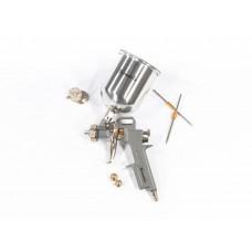 Краскораспылитель пневматический с верхним бачком V 0,6 л, сопло D 1.2, 1.5 и 1.8 мм. MATRIX